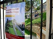První den provozu revitalizovaného hradebního pásu.