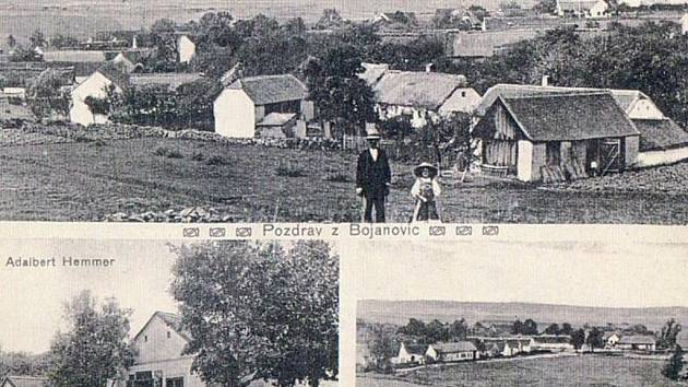 Bojanovice na pohlednici z roku 1909