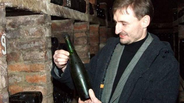 Šef vinařství Modré Sklepy Antonín Koníček