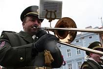 Znojmem se rozléhala vojenská hudba