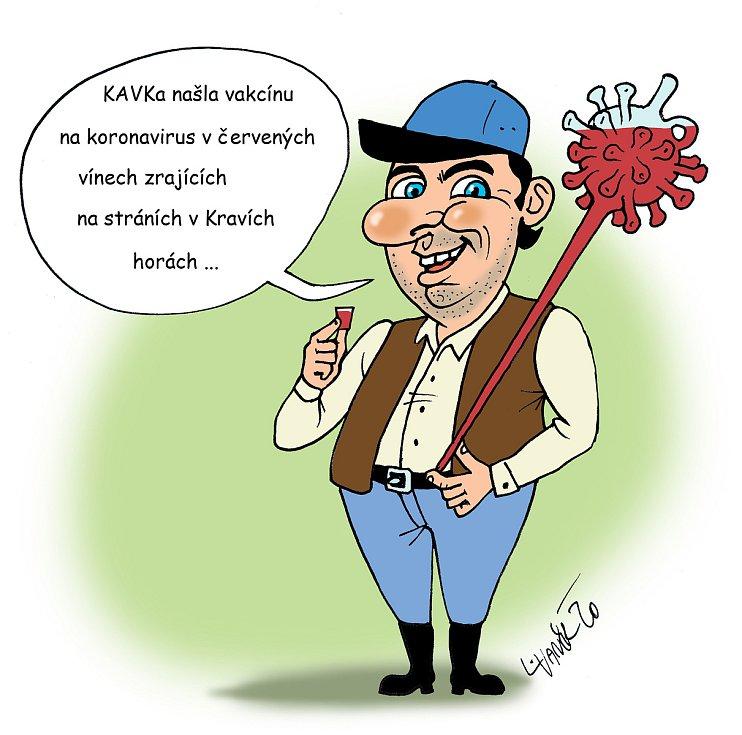 Vinaři z recesistické Svobodné spolkové republiky Kraví hora v Bořeticích jdou na prodej vín v době covidu s humorem.