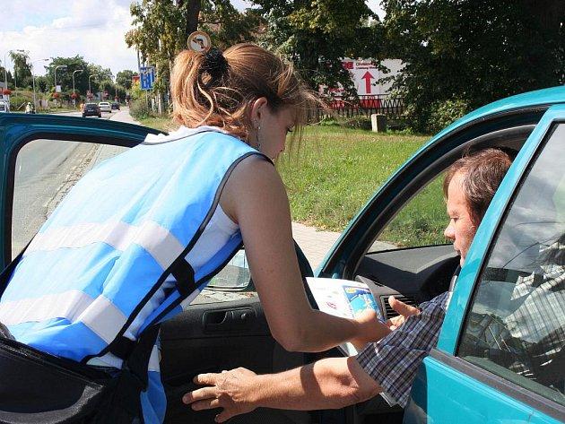 Policisté kontrolovali řidiče ve Znojmě.
