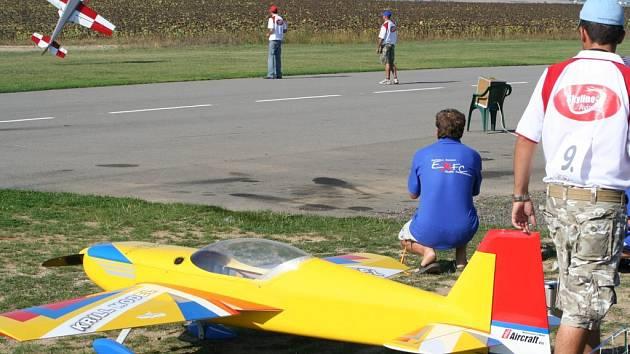 Obří modely letadel v Model City. Ilustrační foto.