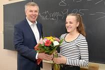 Aneta Hrdličková je první znojemskou euroobčankou. Jako jediná se narodila ve znojemské porodnici 1. května 2004. Na gymnázium, kde studuje, ji přišel poblahopřát místostarosta Znojma Jan Blaha.