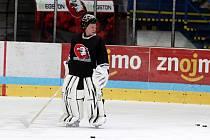 Finský brankář Sasu Hovi absolvoval svůj první trénink ve Znojmě.