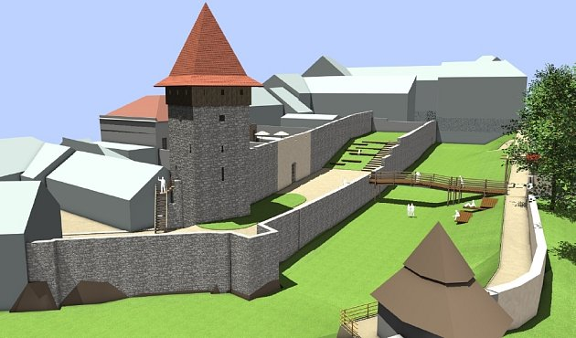 Studie nové podoby hradeb v Dolním parku
