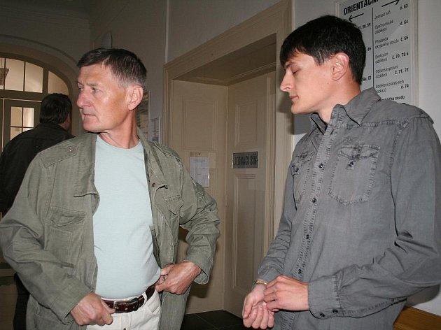 Jaroslav Schindler (vpravo) se svým otcem.