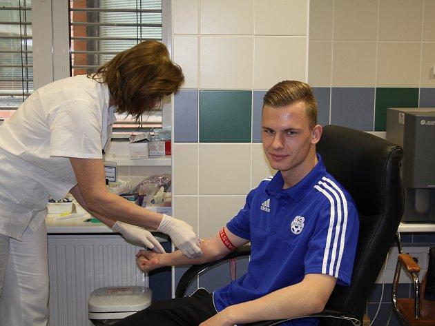 Fotbalisté 1. SC Znojmo se nechali zapsat do registru dárců kostní dřeně.