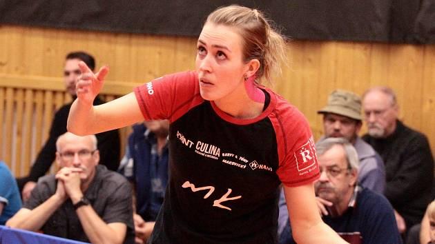 Hráčka stolních tenistek Moravského Krumlova Kristýna Mikulcová.