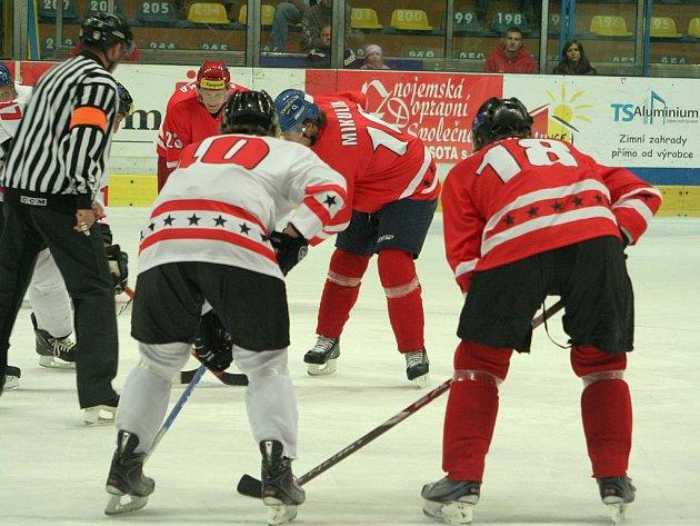 Exhibice hokejových hvězd ve Znojmě.