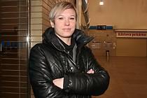 Hrající trenérka znojemských volejbalistek Martina Blažková.