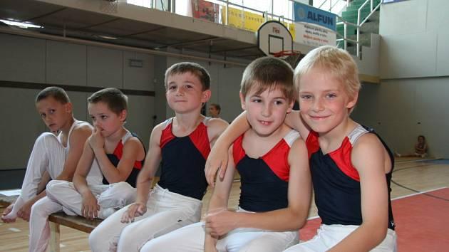Nejmladší znojemští gymnasté