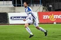 Fotbalista třetiligového Znojma Robert Demjan.