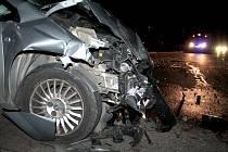 Srážka dvou osobních aut zaměstnala znojemské policisty a hasiče v Suchohrdlech ve čtvrtek večer.