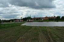 Laguna po deštích v Hraběticích.
