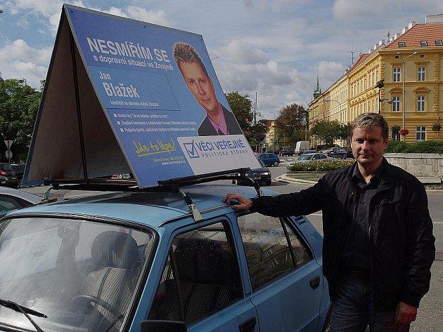 Lídr Věcí veřejných ve Znojmě Jan Blažek.