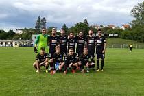 Fotbalová jedenáctka třetiligového Znojma nastoupila v pátek po dvou měsících poprvé k utkání proti soupeři. Na pažitu vedoucího týmu MSFL, Blanska, prohrála 0:6. Foto: 1. SC Znojmo/Milan Šoba