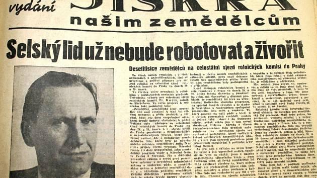 Znojemské noviny z února 1948