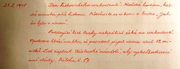 Znojemská kronika zúnora a března 1948