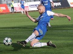 Poslední minuta vzala fotbalistům Znojma body. Na snímku Javůrek.