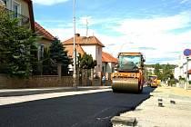 Foto z opravy Legionářské ulice ve Znojmě.