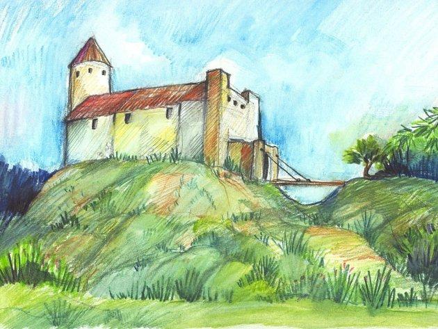 Možná podoba hradu Šimperk