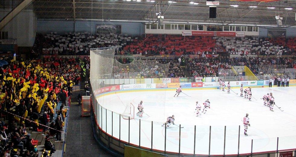 Sedmigólový debakl si odnesli znojemští hokejisté ze čtvrtého utkání play-off s Vídní.