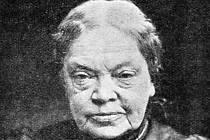 Spisovatelka Marie von Ebner-Eschenbachová, hraběnka Dubská.