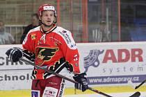 Hokejista Petr Šenkeřík v dresu Prostějova.