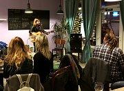 Bistro Chez Martine ve Znojmě hostilo koncert Dana Vertíga a Vojty Kulicha.