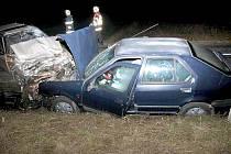 Tragická srážka Renaultu a Škody.