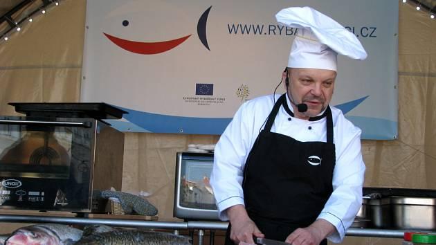 Kuchařská show při Velikonočních trzích ve Znojmě