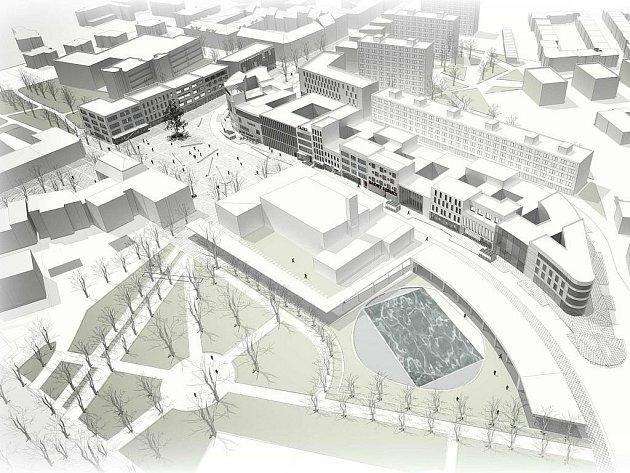 Vizualizace nové podoby náměstí Svobody ve Znojmě