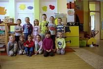 Děti ze znojemské MŠ Pražská, třída Motýlci.