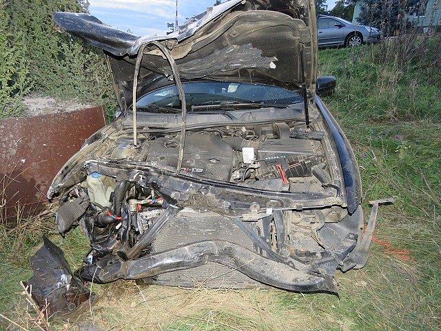 Hříšník nehody nadýchal i hodinu po kolizi 3,12 promile alkoholu.
