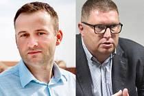 Znojemský starosta Jan Grois (vlevo) a starosta Moravského Krumlova Tomáš Třetina.