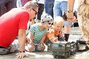 Středisko volného času Diamant ve Znojmě připravilo akci pro děti i rodiče. Bavili se malí i velcí.