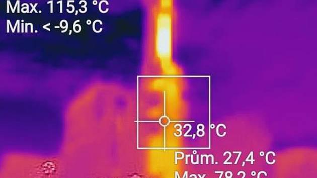 Záběr z termokamery. Ilustrační foto.