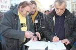 Demonstrace ve Znojmě.