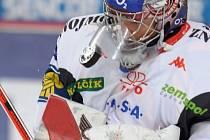 Gólman Jiří Trvaj Znojmu tentokrát k výhře nepomohl.