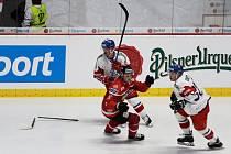 Hokejový tým České republiky sehrál ve středu přípravné utkání na znojemském zimním stadionu proti Rakousku v rámci Euro Hockey Challenge.