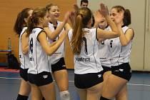 Volejbalové žákyně celku VK Pegas Znojmo jsou po víkendu průběžně na pátém místě Českého poháru žákyň.