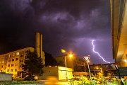 Jedna ze srpnových bouřek ve Znojmě.