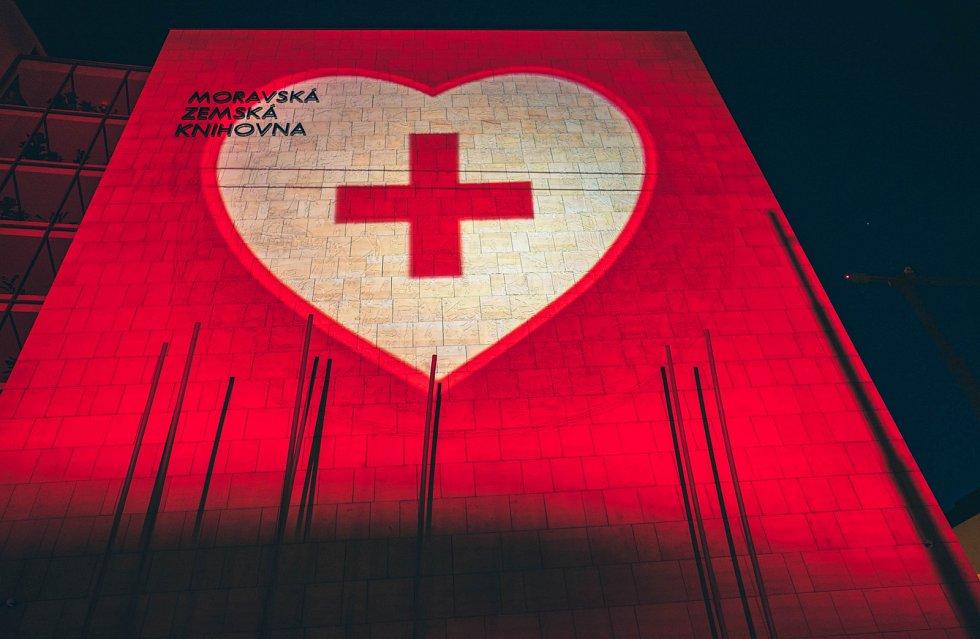 Iniciativa Světlem proti viru nasvítila i Moravskou zemskou knihovnu.