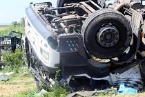 Na silnici třetí třídy číslo 399 mezi Plavčí a Stupešicemi havaroval kamion. Ilustrační foto.