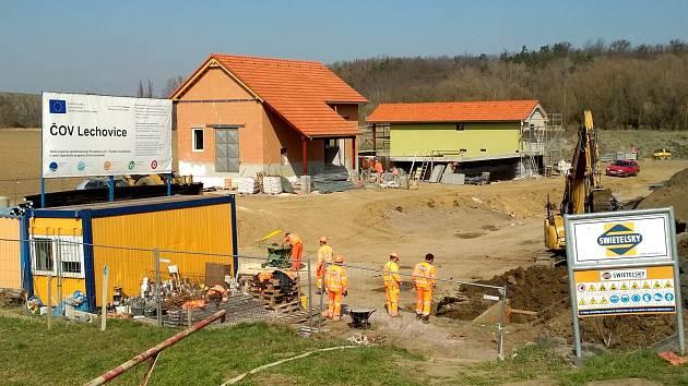 Lechovice dokončují novou čističku odpadních vod