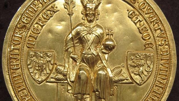 Zlatá pečeť Karla IV. Ilustrační foto