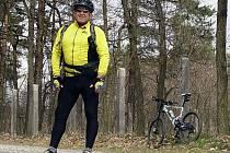 Cyklista Jaromír Novák