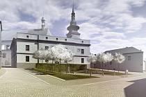 Vizualizace znojemského Divišova náměstí.
