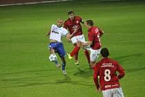 I v dalším domácím zápase se radovali hráči fotbalového Znojma z vítězství. Tentokrát doma zdolali Táborsko 4:2.